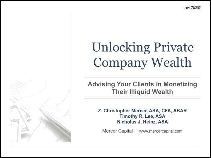 unlocking private company wealth presentation