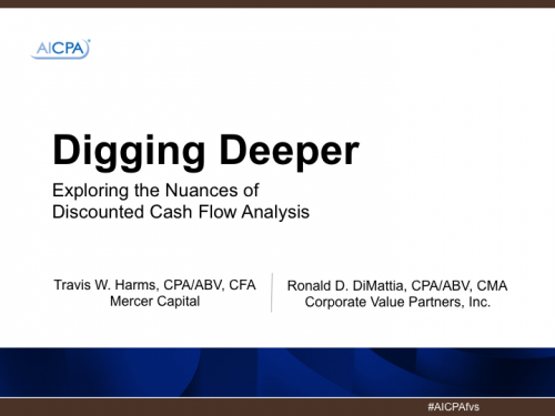 Mercer-Capital_Digging-Deeper-DCF-Analysis_TWH-Cover