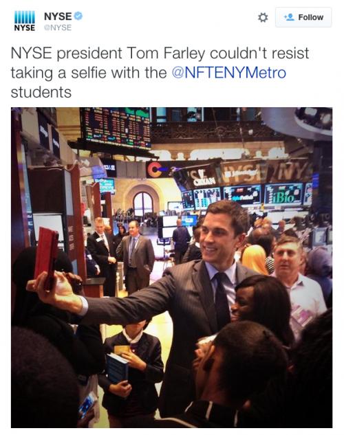 NYSE-TomFarleySelfie
